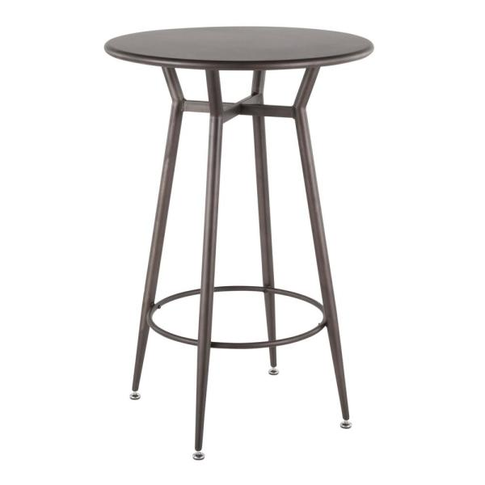 Clara Industrial Round Antique Metal Bar Table