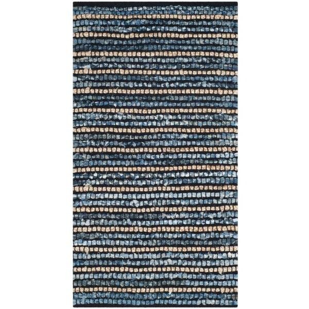 Cape Cod Blue/Natural 3 ft. x 5 ft. Area Rug