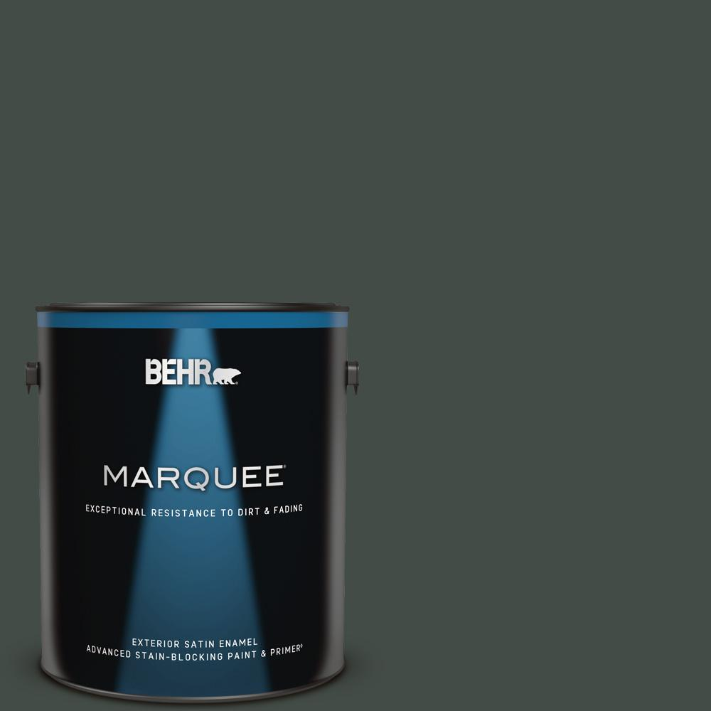 Behr Marquee Home Decorators Collection 1 Gal Hdc Cl 21 Sporting Green Satin Enamel Exterior Paint And Primer 945301 The Home Depot