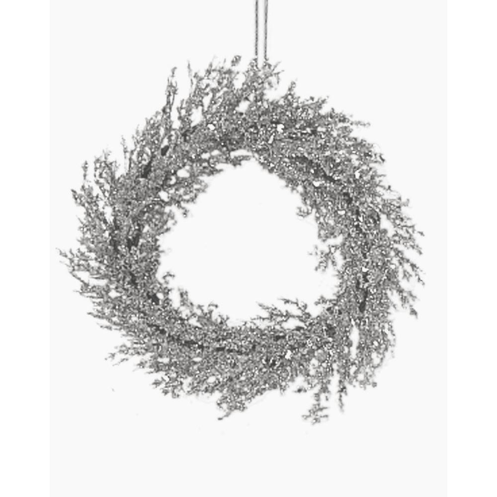 Home Accents Holiday 24 in. Silver Wreath