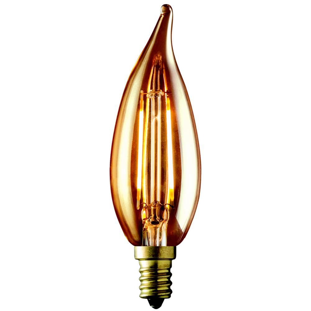 Bulbrite 40w Equivalent Amber Light G25 Dimmable Led: Philips 40W Equivalent Vintage Amber Glass Dimmable G25