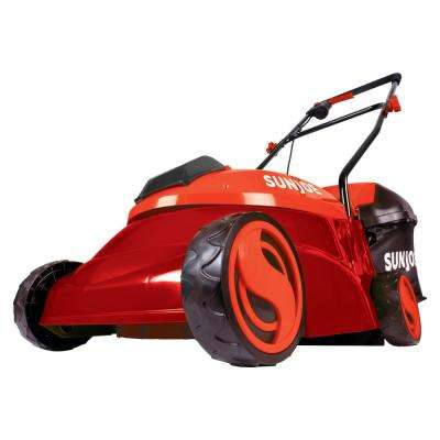 14 in. 28-Volt Cordless Walk-Behind Push Mower Kit with 5.0 Ah Battery + Charger, Red