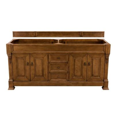 Brookfield 72 in. W Bathroom Vanity Cabinet Only in Country Oak