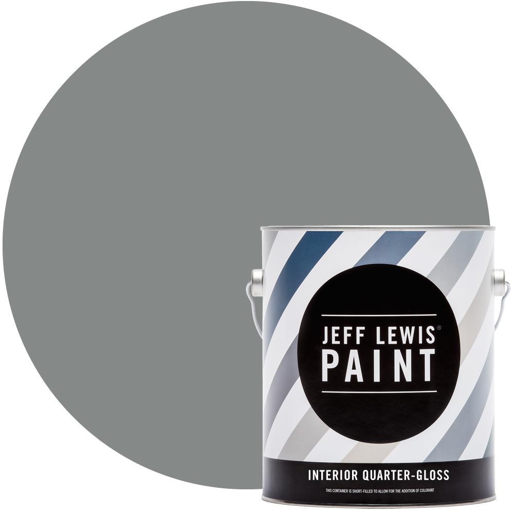 1 gal. #420 Smokey Eye Quarter-Gloss Interior Paint
