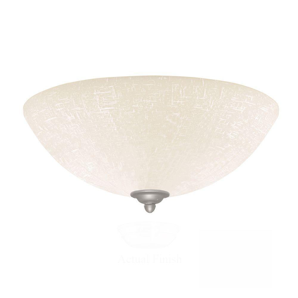 Illumine Zephyr 3-Light Brushed Steel Ceiling Fan Light Kit