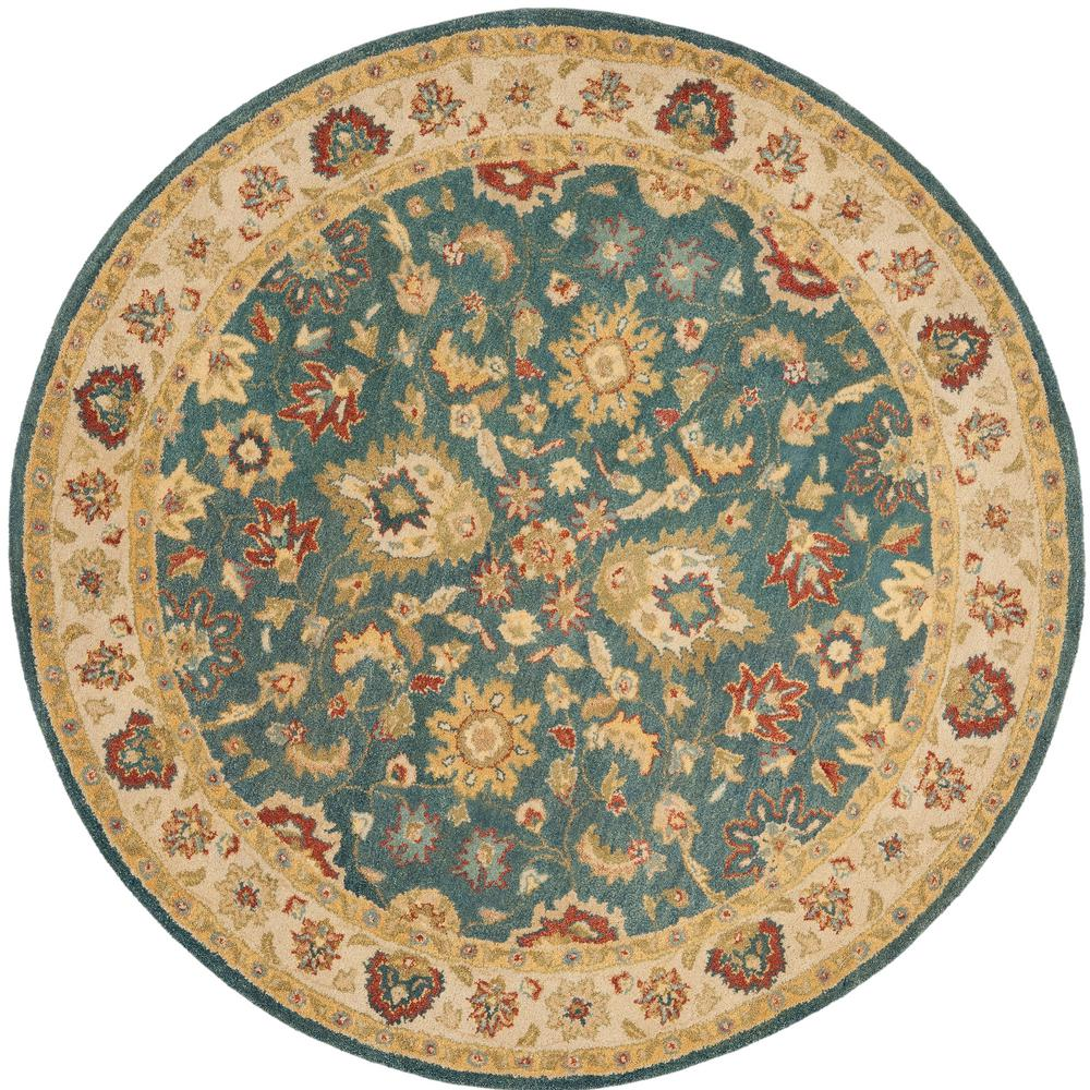 Safavieh Antiquity Bluebeige 8 Ft X 8 Ft Round Area Rug At15a 8r
