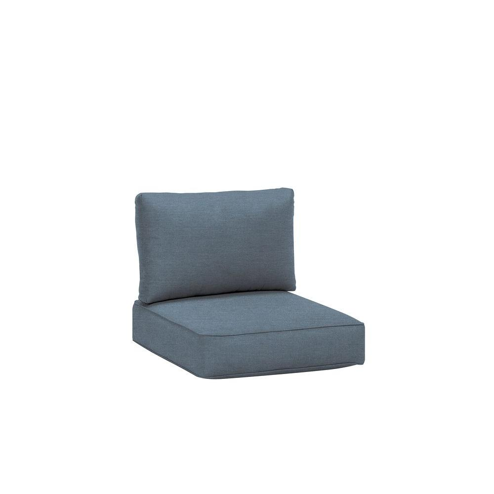 Northshore Patio Middle Armless Sectional Replacement Cushions in Denim