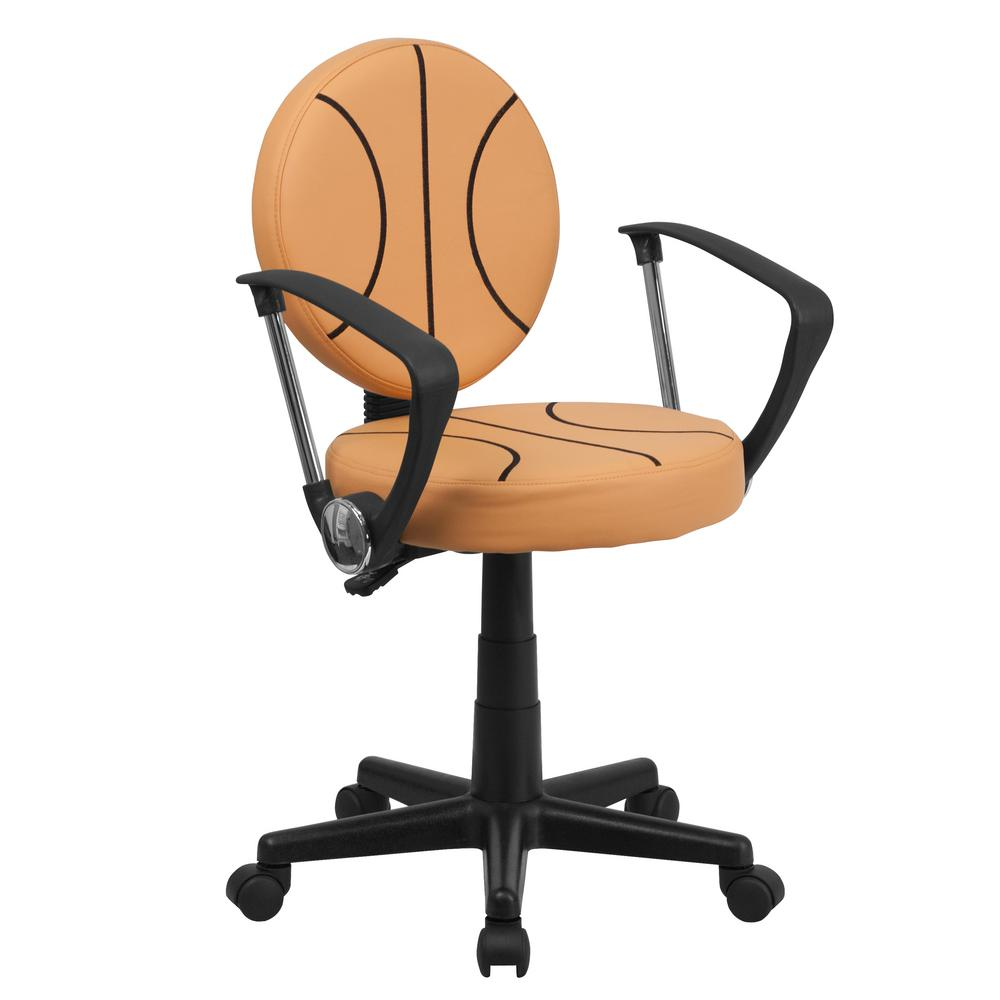 Basketball Orange Task Chair with Arms