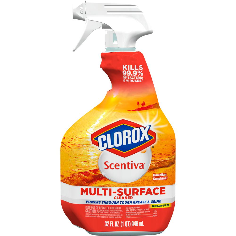 clorox 32 oz hawaiian sunshine multi surface cleaner spray