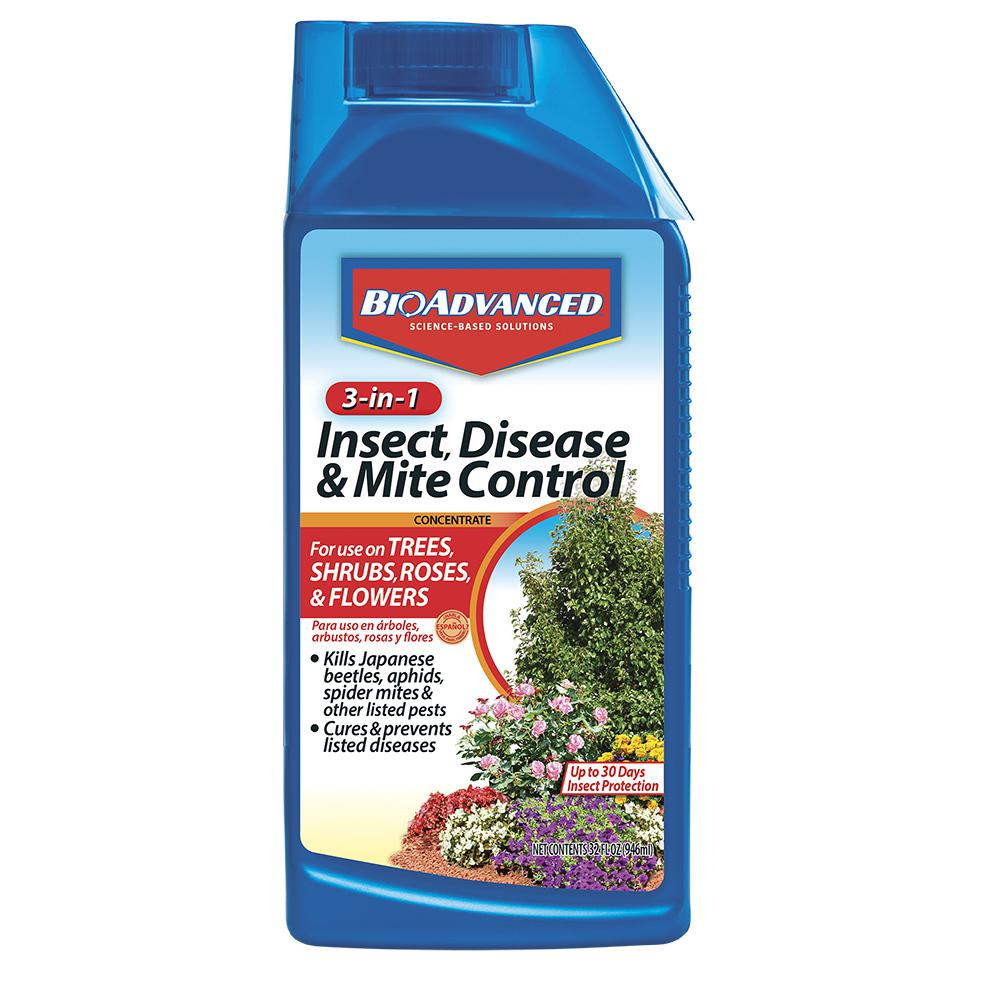 BioAdvanced 32 oz. Concentrate 3-in-1 Insect, Disease and Mite Control