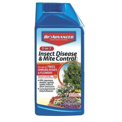 32 oz  Concentrate 3-in-1 Insect, Disease and Mite Control