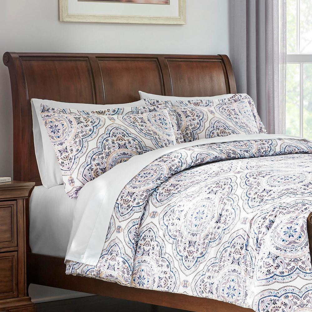 Alana 3-Piece Medallion Full/Queen Comforter Set