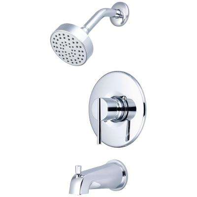 i2v 1-Handle Wall Mount Tub and Shower Trim Kit in Polished Chrome (Valve Not Included)