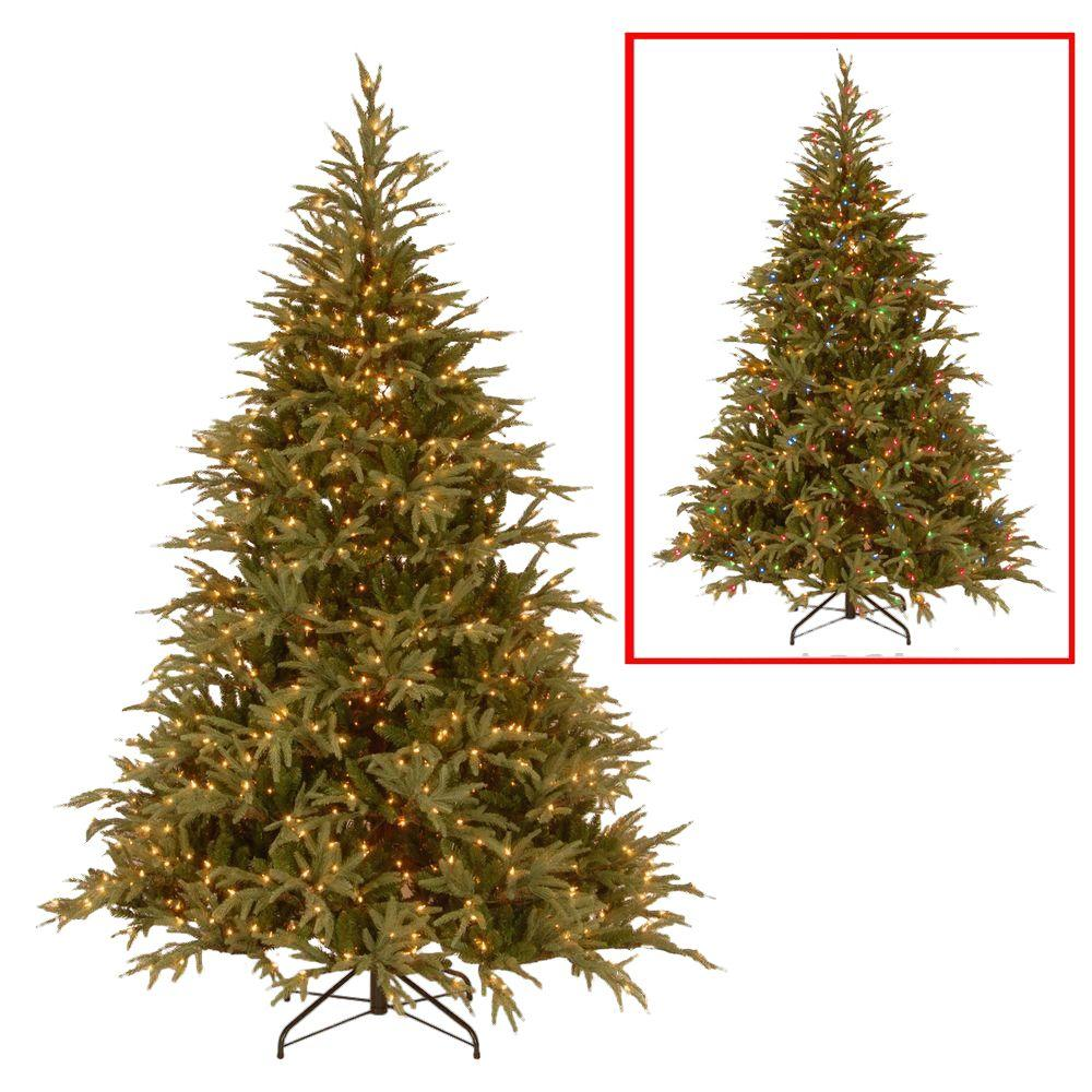 national tree company 6 ft frasier grande artificial christmas tree with dual color led lights - 2 Foot Christmas Tree