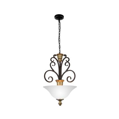 Presley 3-Light Ebony Gold Chandelier