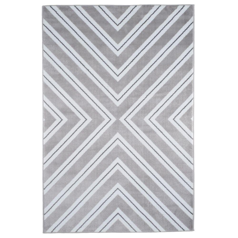 Kaleidoscope Grey 5 ft. x 7 ft. 7 in. Area Rug
