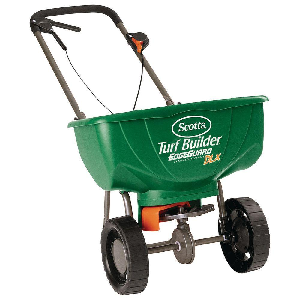 Broadcast Spreader Turf : Scotts turf builder edgeguard dlx broadcast spreader