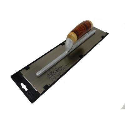 16 in. x 4 in. Carbon Steel Finishing Cement Trowel with Leather Handle