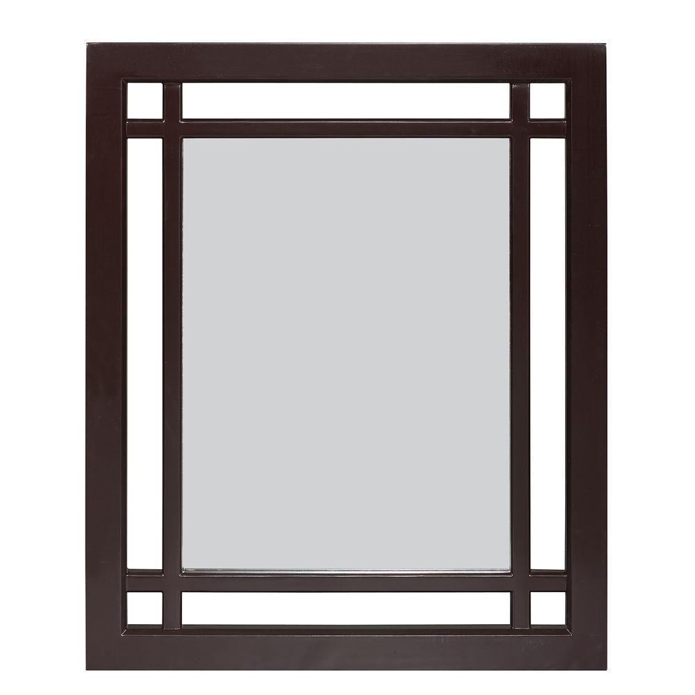 Albion 24 in. L x 20 in. W Wall Mirror in Dark Espresso