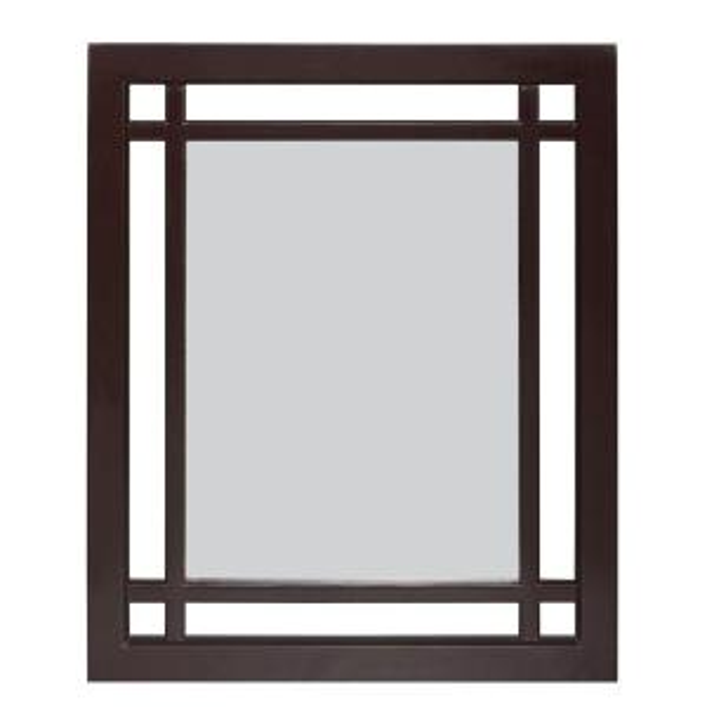 Elegant Home Fashions Albion 24 inch L x 20 inch W Wall Mirror in Dark Espresso by Elegant Home Fashions