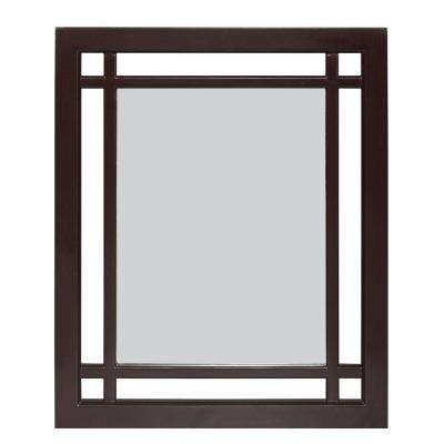 Albion 24 in. L x 20 in. W Wall Mirror in Dark Espresso