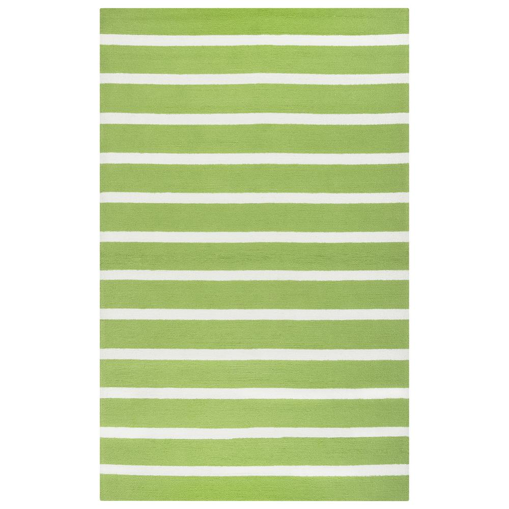 Lime Green Outdoor Area Rug: Rizzy Home Azzura Hill Lime Green Striped 5 Ft. X 8 Ft