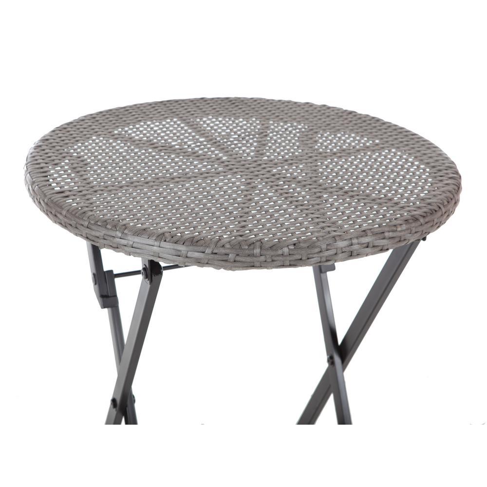 3 piece wicker folding outdoor porch deck patio furniture. Black Bedroom Furniture Sets. Home Design Ideas