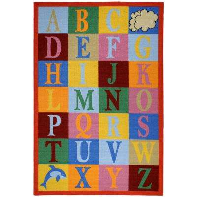 Bambino Collection Multi-Colored 3 ft. 3 in. x 5 ft. Area Rug