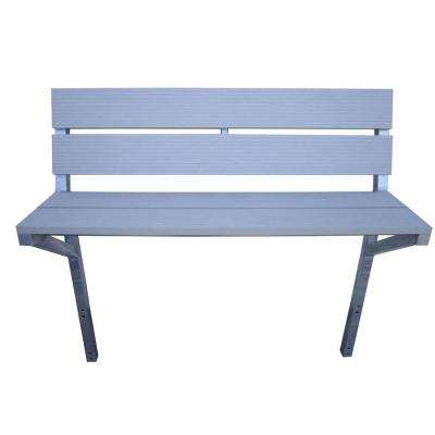 4 ft. Aluminum Bench Kit in Gray