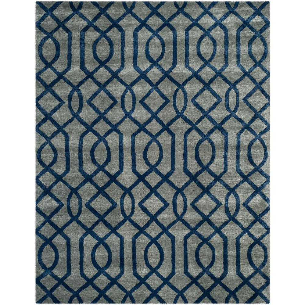 Soho Gray/Dark Blue 7 ft. 6 in. x 9 ft. 6