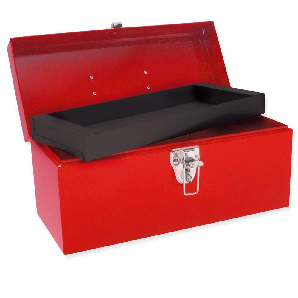 Heavy Duty Metal Tool Box - 14 in. X 6 in. X 6 in.