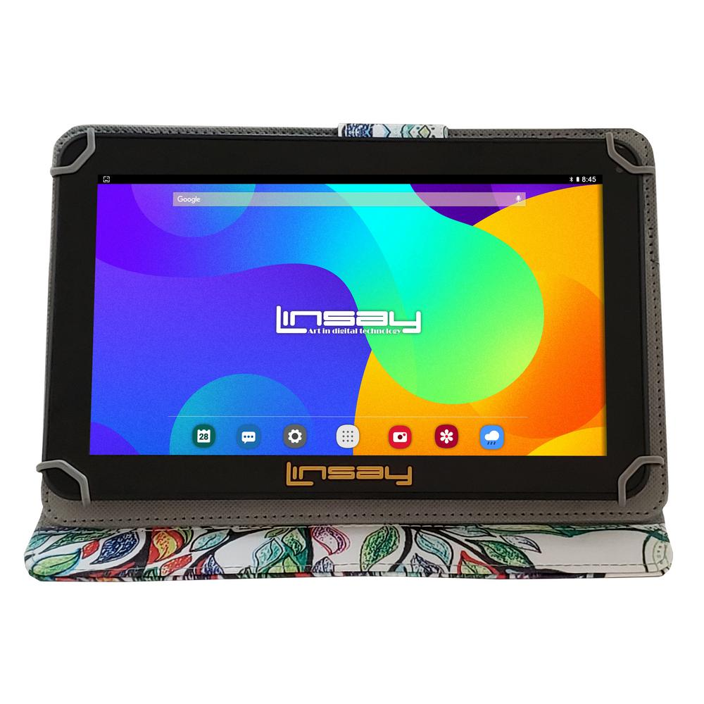 LINSAY 10.1 in. 2GB RAM 16GB Android 9.0 Pie Quad Core Tablet with Tree Shape Marble Case was $179.99 now $87.99 (51.0% off)