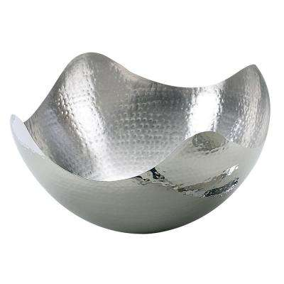 10 in. Hammered Stainless Steel Wave Bowl