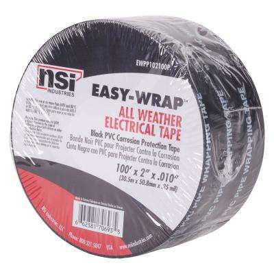 2 in. x 100 ft. All Weather Corrosion Protection PVC Printed Tape, Black