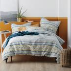 Etchings Multicolored Geometric Cotton Matelasse King Duvet Cover