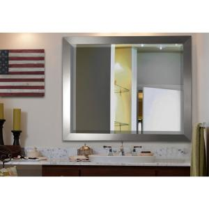 35.5 in. x 35.5 in. Silver Wide Rounded Beveled Wall Mirror