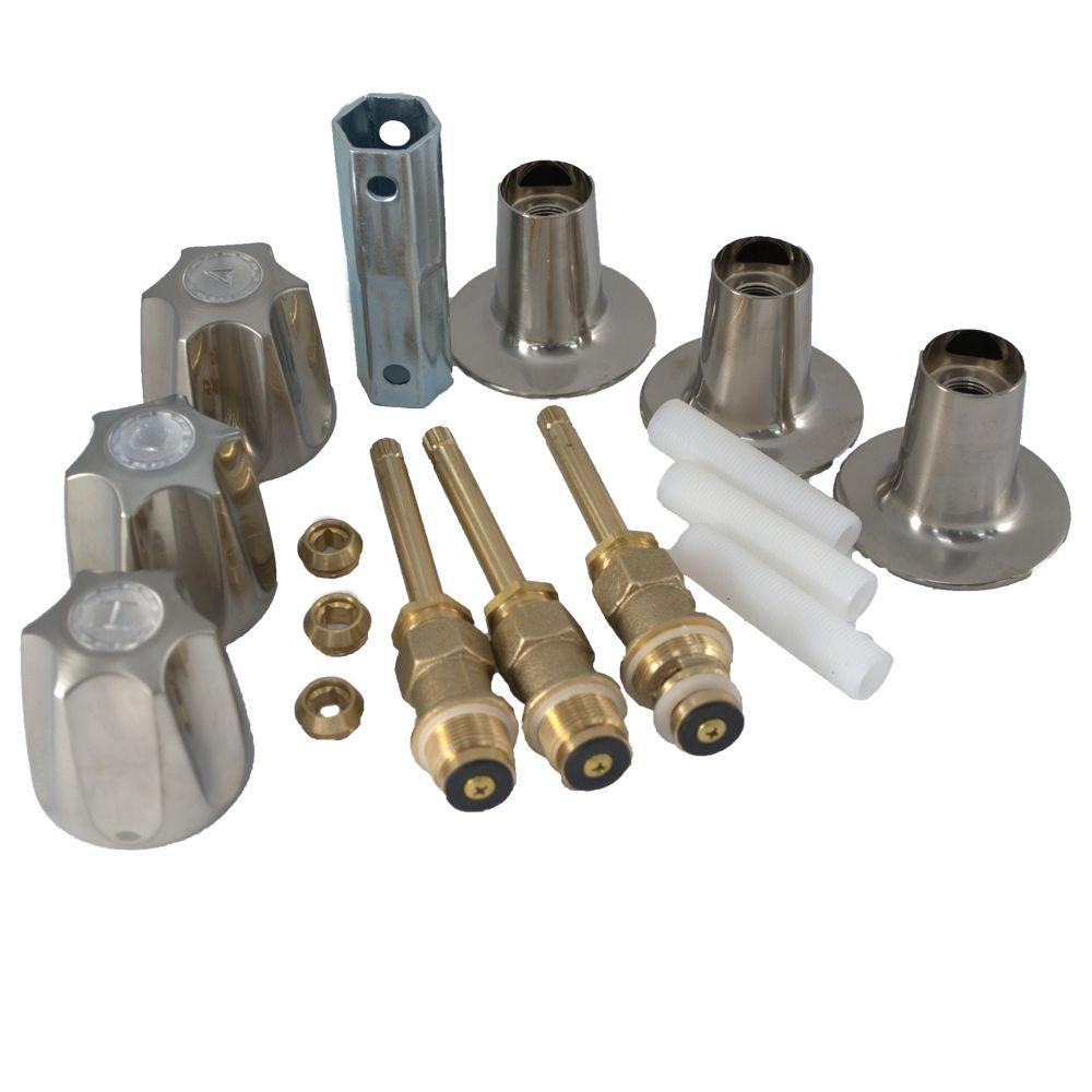PartsmasterPro Tub and Shower Rebuild Kit in Brushed Nickel for Price Pfister Verve
