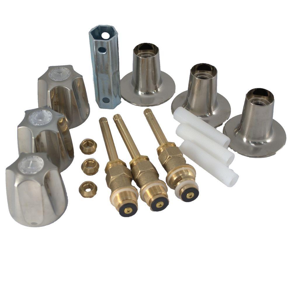 PartsmasterPro Tub and Shower Rebuild Kit in Brushed Nickel for Price Pfister Verve by PartsmasterPro