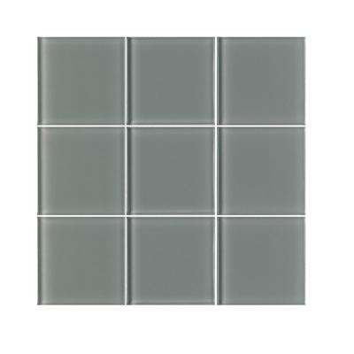 VitraArt Tranquil Shadow 4 in. x 4 in. Glass Wall Tile (6 sq. ft. / case)