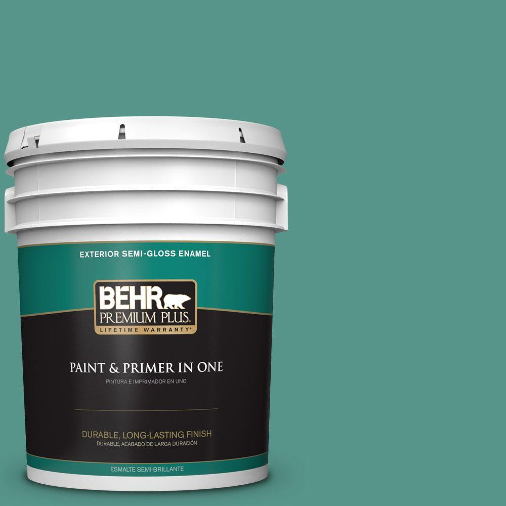 5-gal. #490D-6 Thermal Spring Semi-Gloss Enamel Exterior Paint
