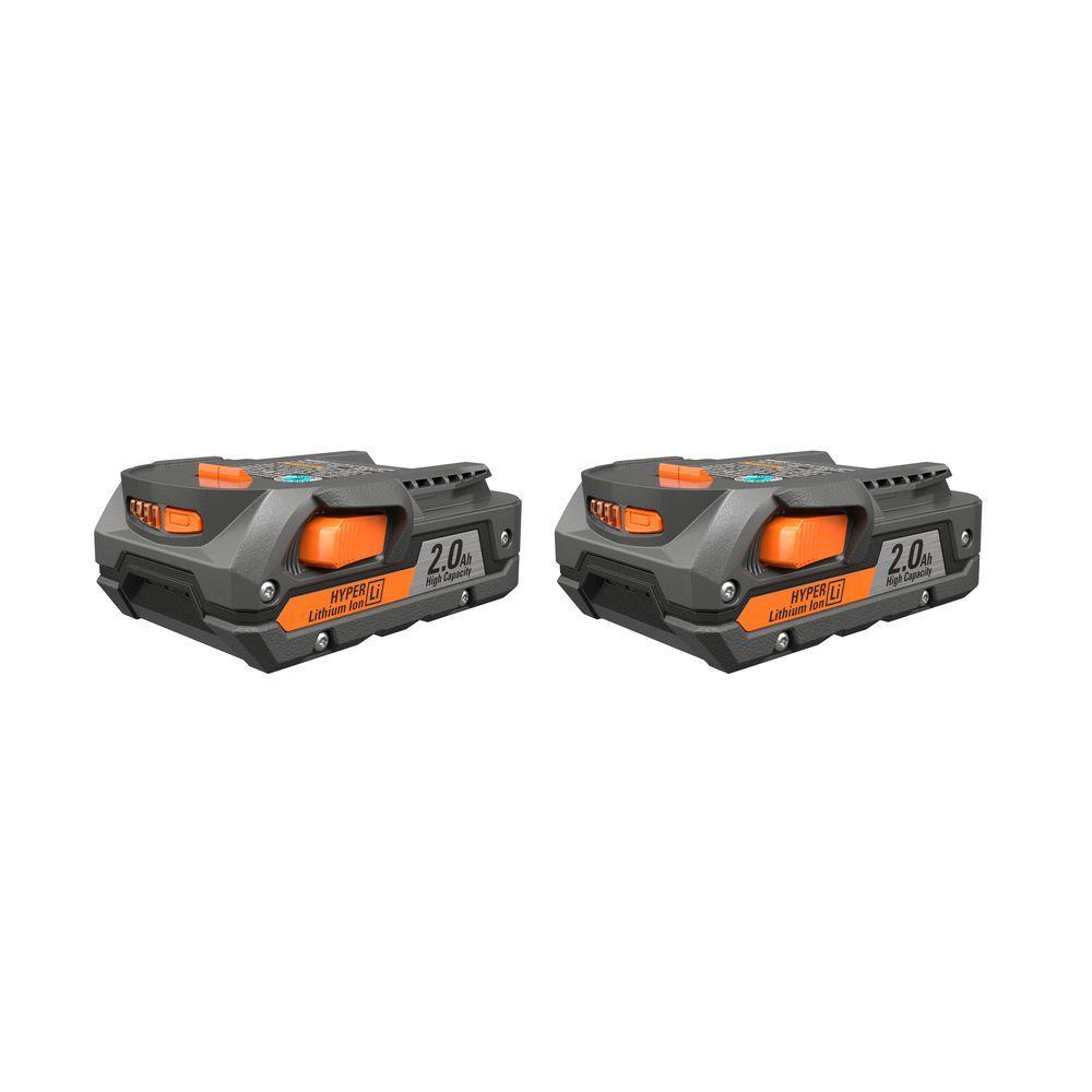 RIDGID 18-Volt 2.0 Ah Lithium-Ion Battery Pack (2-Pack)