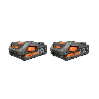18-Volt 2.0-Amp Hour Lithium-Ion Battery (2-Pack)