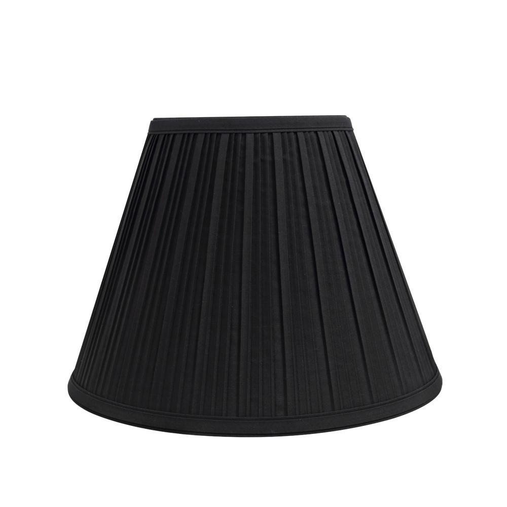 Aspen Creative Corporation 12 In. X 9 In. Black Pleated Empire Lamp Shade