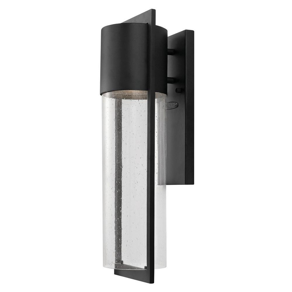 Shelter 1-Light Black Outdoor Wall Lantern Sconce