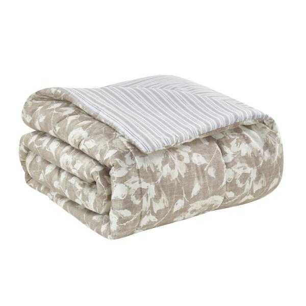 Camille 10 Piece Comforter Set with Bed Skirt Shams Pillows King