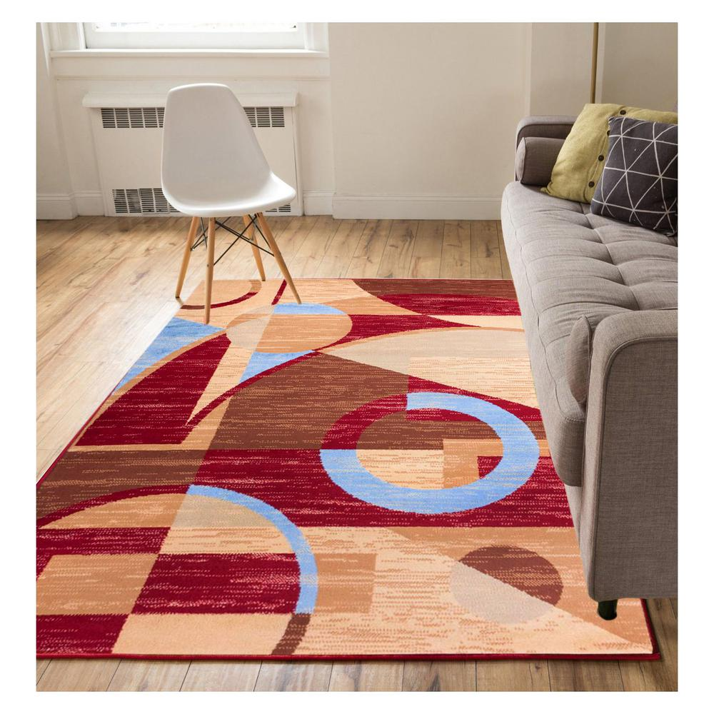 Well Woven Miami Riga Circles Modern Geometric Red 8 ft. x 10 ft. Area Rug was $114.59 now $91.67 (20.0% off)