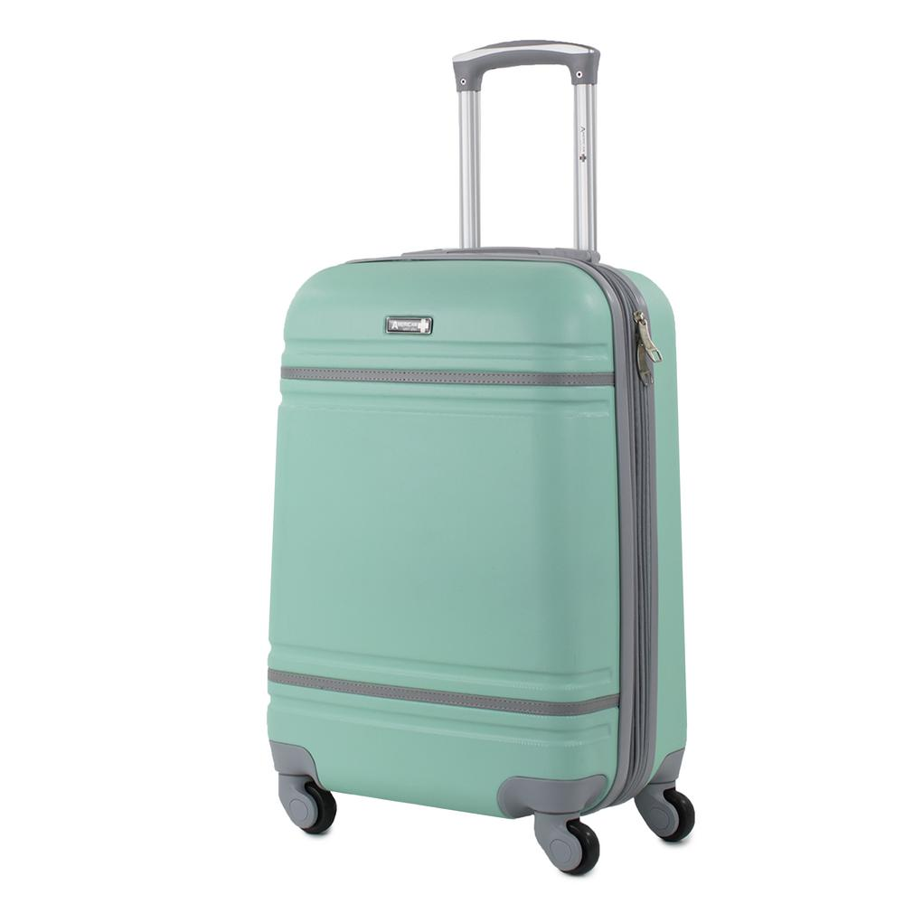 Varsity 20 in. Mint/Grey Carry-On Hardside Spinner Luggage