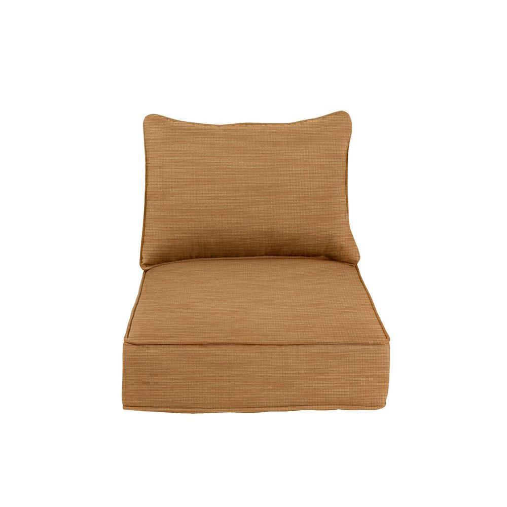 Greystone Replacement Outdoor Dining Chair Cushion in Toffee