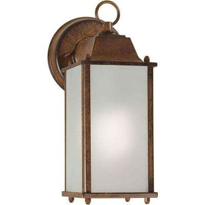 Burton 1-Light Outdoor Rustic Sienna Wall Lantern