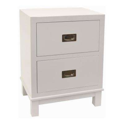 24 in. White Cabinet with 2-Drawer